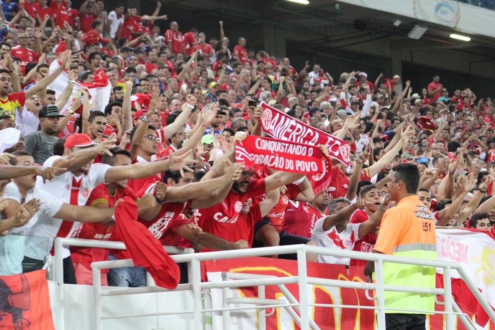 América-RN decide classificação para a Série C no domingo, dia 13, na Arena das Dunas (Foto: Fabiano de Oliveira)