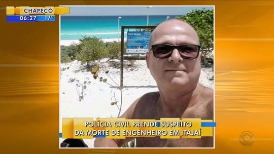Jovem é preso e confessa morte de engenheiro em Itajaí
