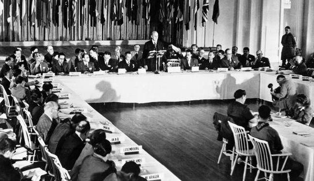 Delegados de 44 países participam da Conferência de Bretton Woods, em New Hampshire, nos EUA  (Foto: Divulgação)