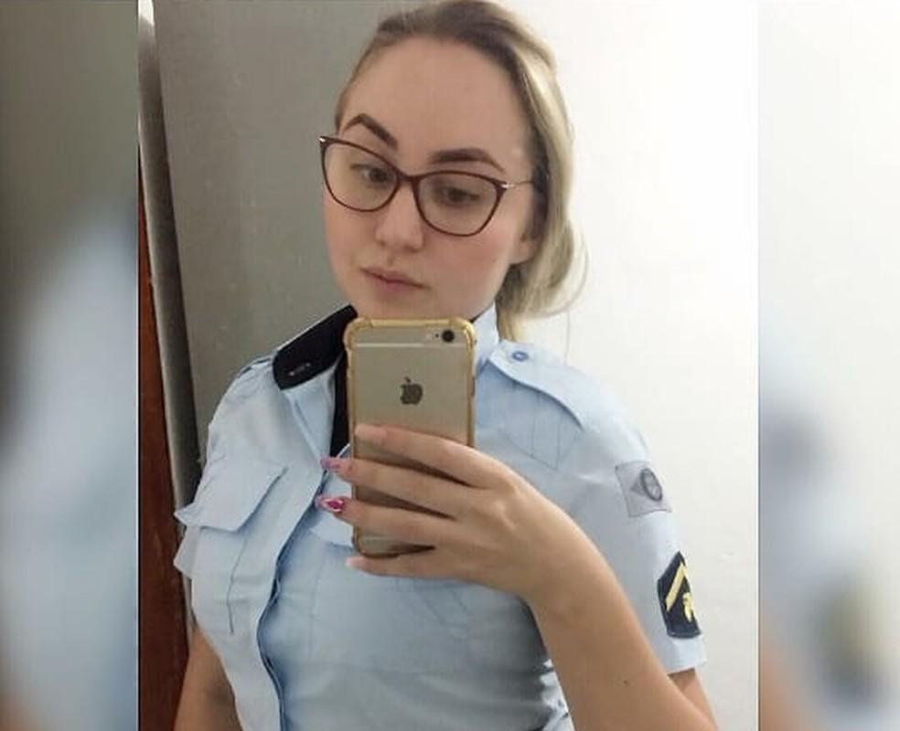 A policial militar, presa no último sábado por desacato a superiores da PM, ganhou liberdade provisória em audiência de custódia — Foto: Reprodução
