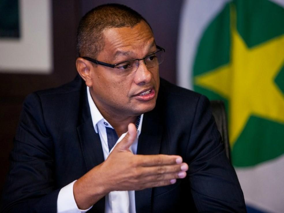 Coronel da PM, Airton Siqueira Junior foi preso por suposto envolvimento em esquema de interceptações clandestinas em MT (Foto: Mayke Toscano/Gcom-MT)