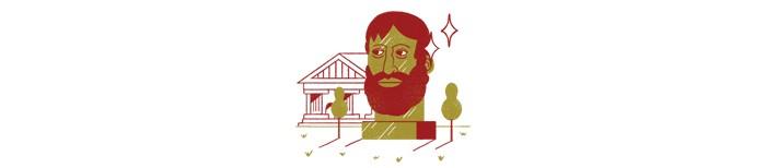 1. Aristóteles  (Século 4 a.C.) (Foto: Ilustração: Yorka)