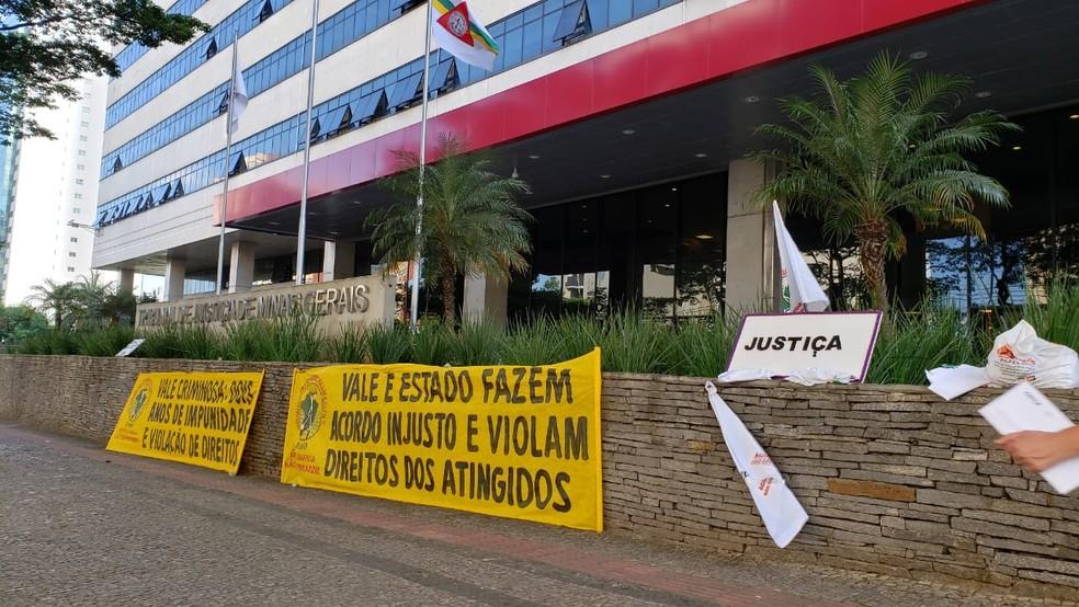 Audiência entre Vale e governo de Minas acontece no Tribunal de Justiça — Foto: Danilo Girundi / TV Globo