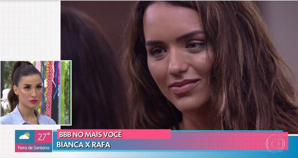Bianca fala do desentendimento com Rafa no 'BBB20' — Foto: TV Globo