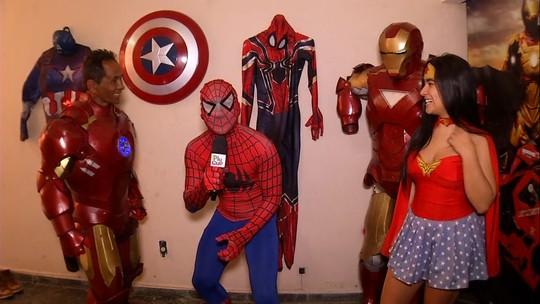 'Plugue' conheceu família que se veste de super-herói, em Volta Redonda