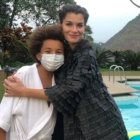 Alinne Moraes e Miguel Schmid em 'Um lugar ao Sol' (Foto: Arquivo pessoal)