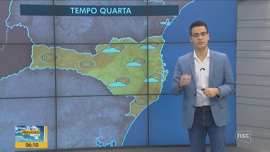Previsão do tempo indica sol e nuvens para Santa Catarina nesta quarta-feira