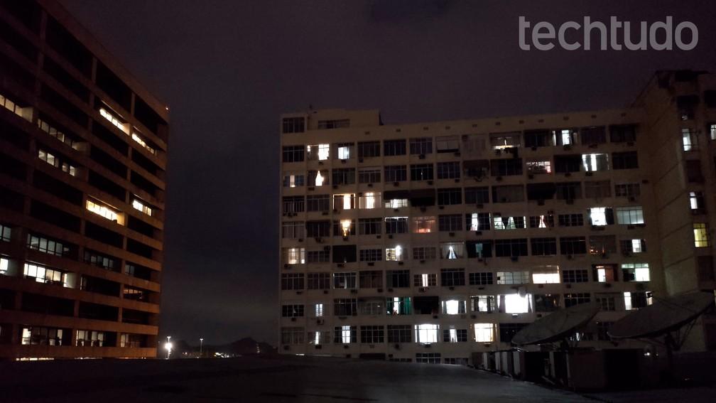 Foto tirada sem o modo Night Vision do Motorola One Hyper — Foto: Rubens Achilles/TechTudo