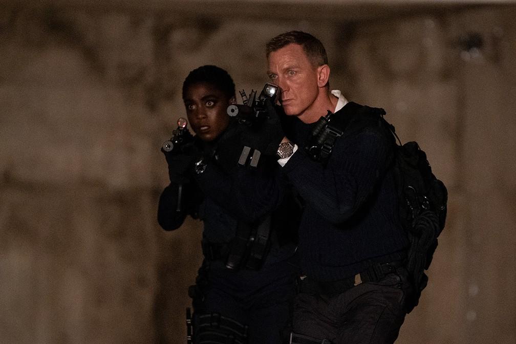 Lashana Lynch e Daniel Craig em '007 - Sem tempo para morrer' — Foto: Divulgação