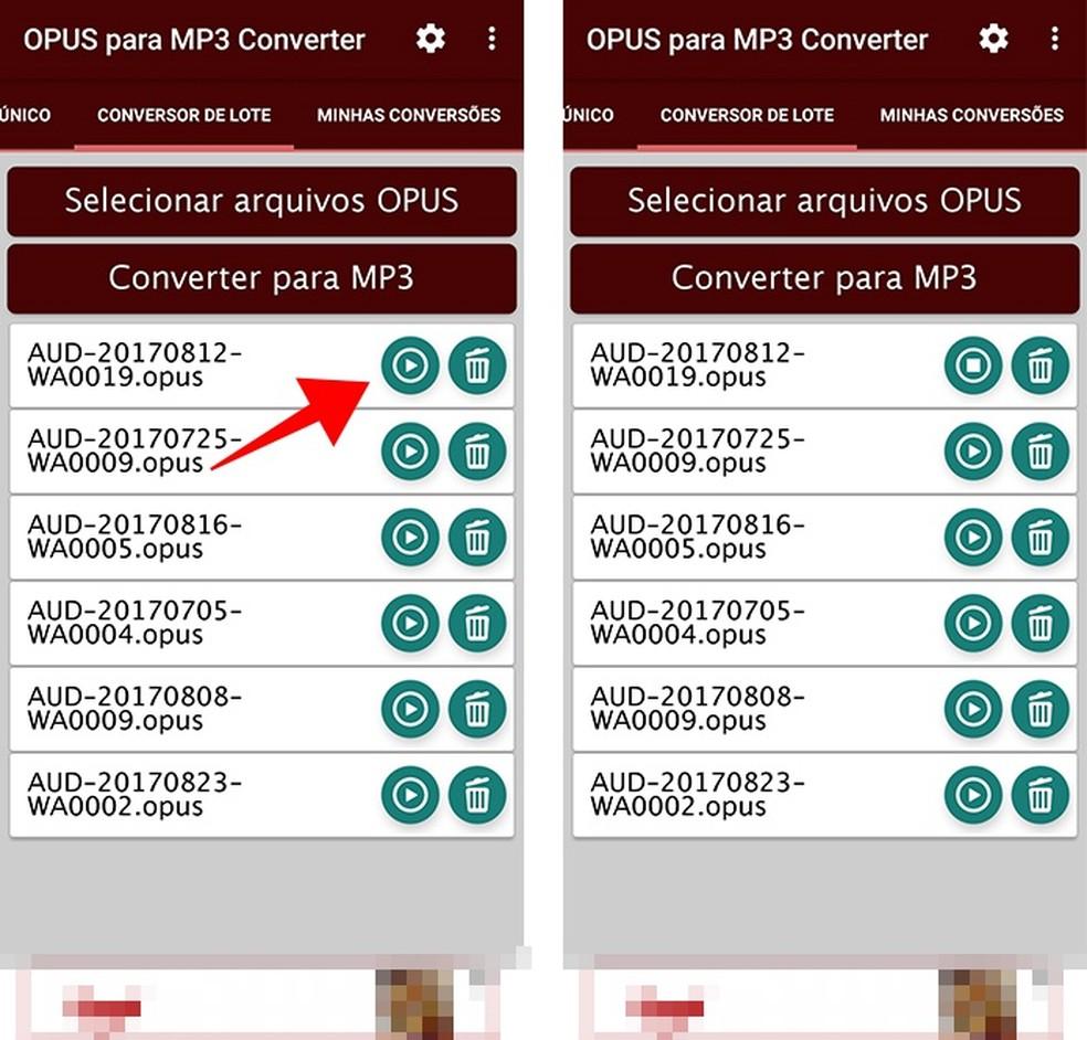 Dê play em áudios diretamente no aplicativo (Foto: Reprodução/Paulo Alves)