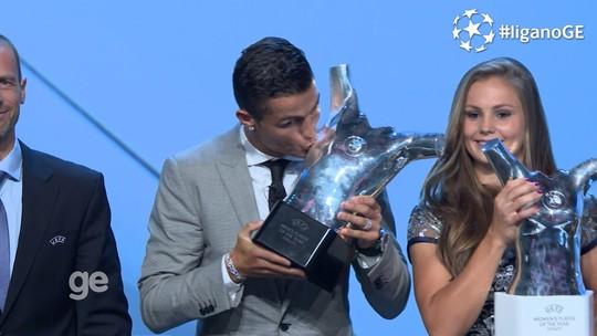 Cristiano Ronaldo supera Messi e Buffon e leva prêmio de melhor jogador da Europa