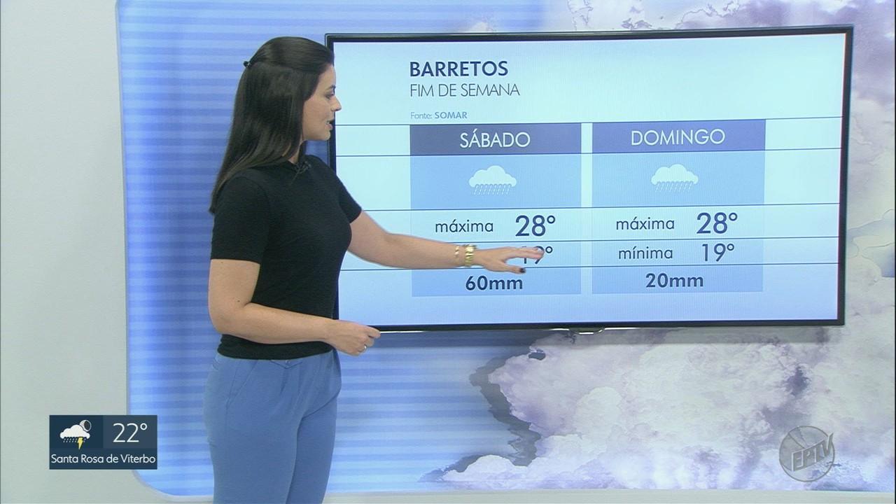 Veja a previsão do tempo para sábado (27) na região de Ribeirão Preto