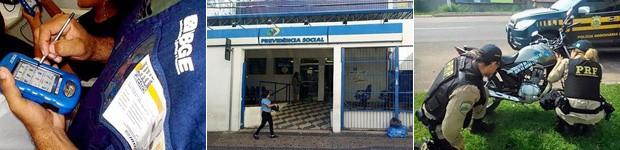 IBGE, INSS e PRF aguardam autorização para abrir concursos em 2015 (Foto: Bárbara Bretanha/G1 e Divulgação)