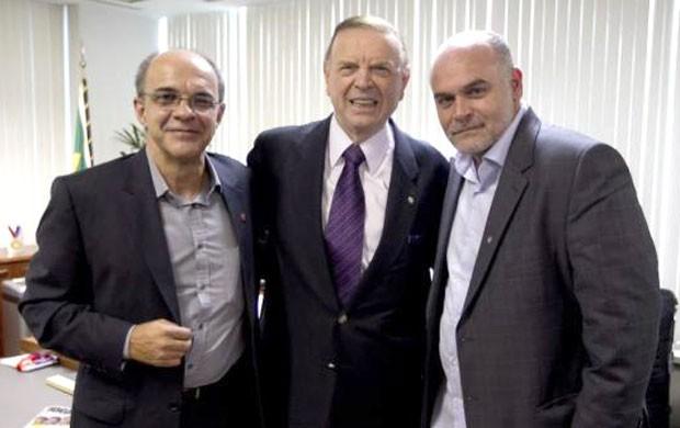 José Maria Marin recebe presidentes de Botafogo e Flamengo na CBF