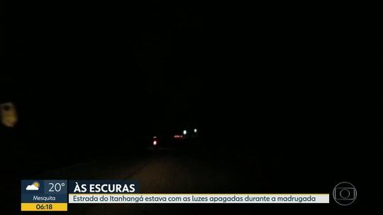 Estrada do Itanhangá está sem luz há dez dias
