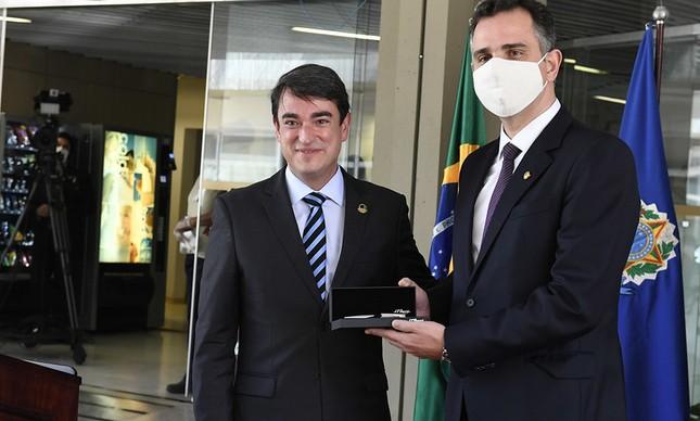 Luiz Fernando Bandeira de Mello e Rodrigo Pacheco