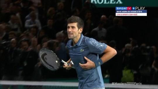 Os pontos finais de Federer 1 x 2 Djokovic pelas semifinais do Masters 1000 de Paris