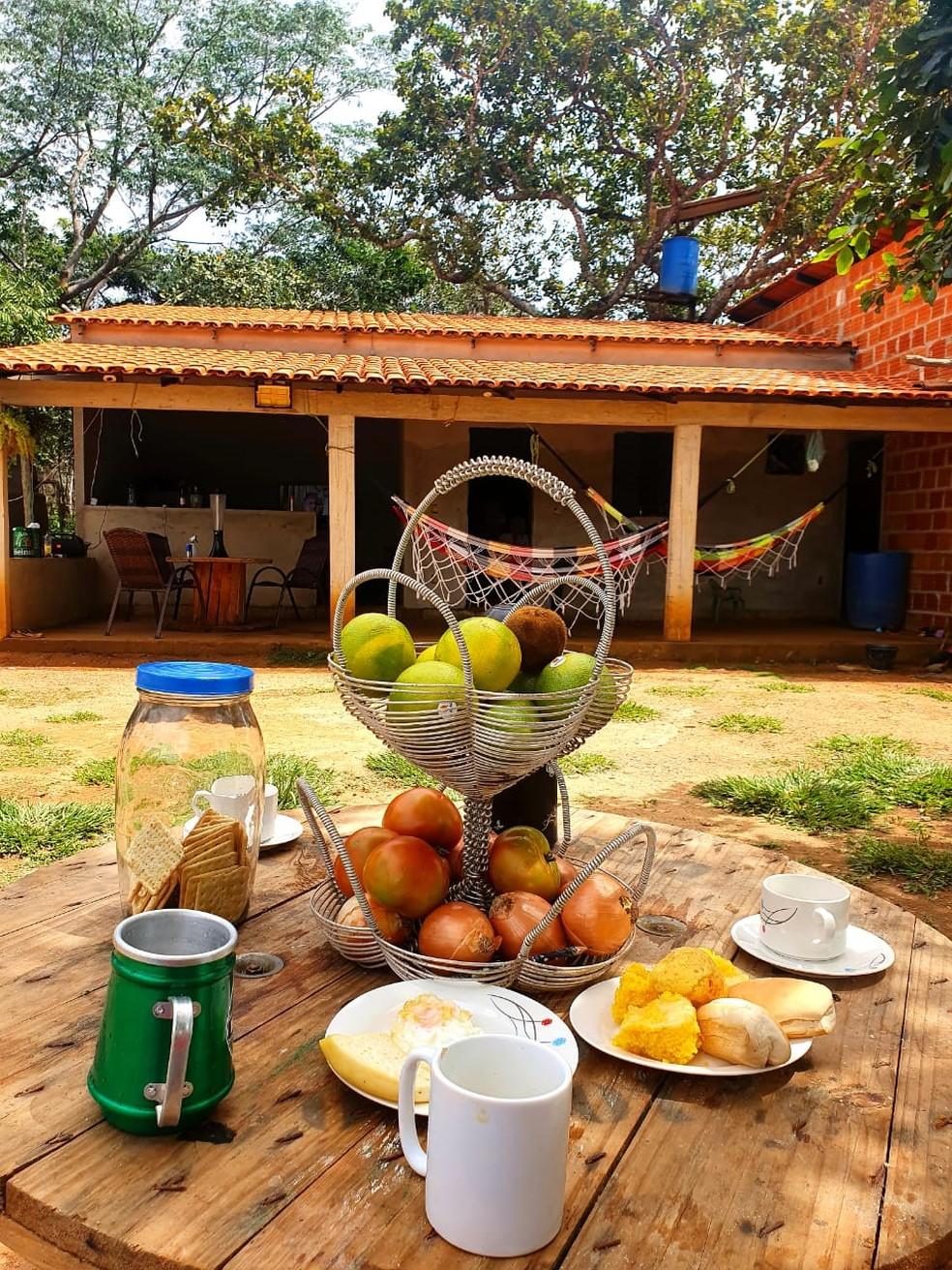 Chácara Vargem Grande, em Porto Alegre, onde a família da Selvina Gomes mora — Foto: Arquivo Pessoal