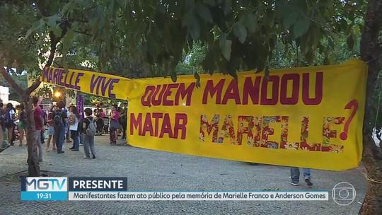 Ato em BH cobra identificação de mandantes da execução de Marielle Franco