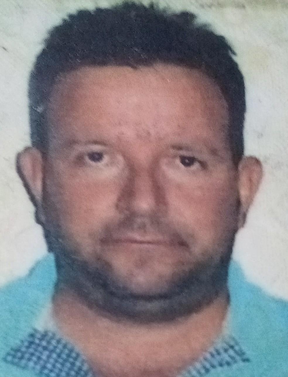 Empresário Gilberto de Oliveira Couto, de 46 anos, foi assassinado no município de Guarantã do Norte — Foto: Divulgação