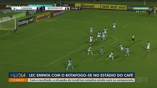 Londrina empata com o Botafogo-SP, no Estádio do Café