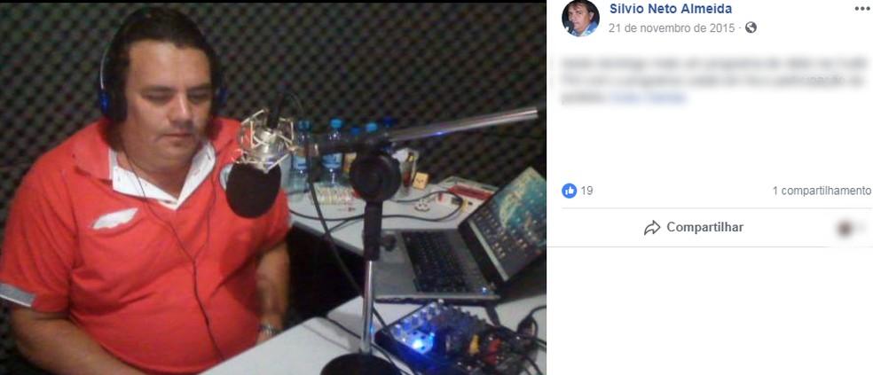 Radialista é morto a tiros dentros de casa em Cubati — Foto: Facebook/Silvio Neto Almeida