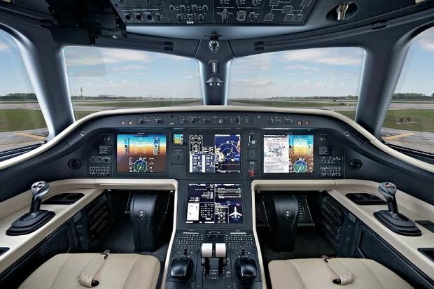 Cockpit do novo Praetor 600 da Embraer (Foto: Divulgação Embraer)