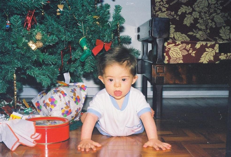 Samuel Ribeiro, em foto de quando era bebê — Foto: Arquivo pessoal