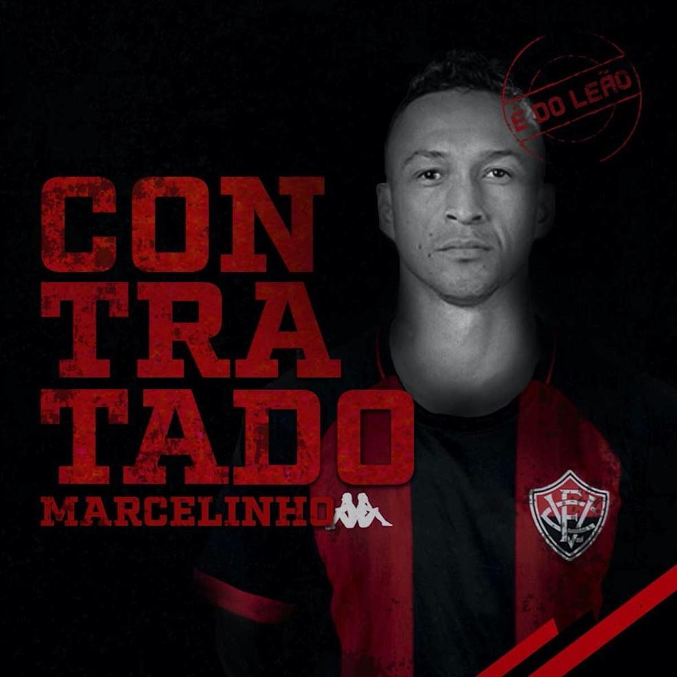 Marcelinho, atacante do Vitória — Foto: Divulgação/EC Vitória