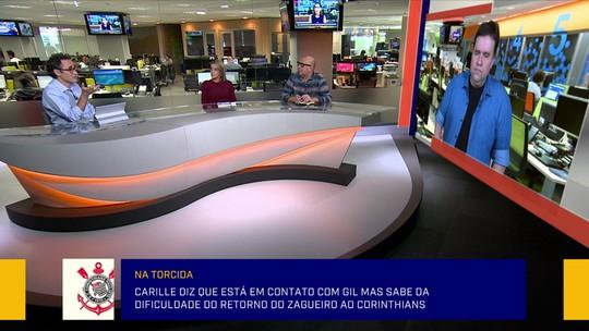 """Jornalista exalta Carille ao falar com Gil para voltar ao Corinthians: """"Faz muita diferença"""""""