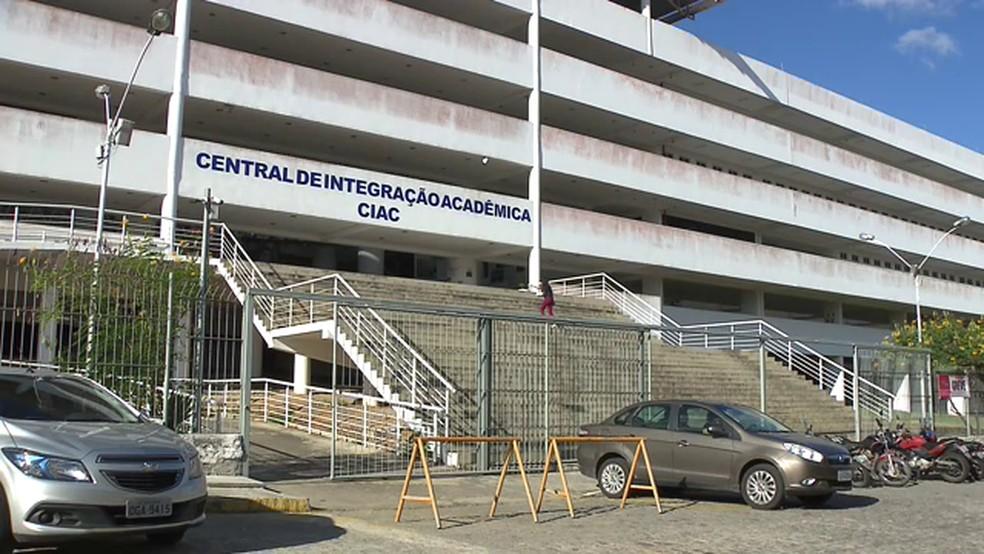 Central de Integração Acadêmica do campus de Bodocongó da UEPB, em Campina Grande — Foto: Reprodução/TV Paraíba/Arquivo
