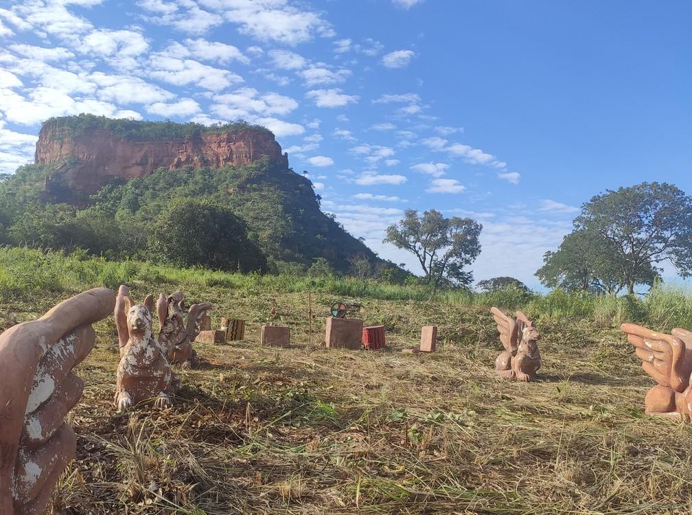 Local onde aconteciam as provas e eliminações do programa. — Foto: Ariane Frassato