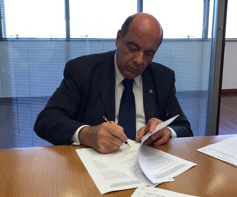 Nelson Mufarrej, presidente do Botafogo — Foto: Julio Gracco/Botafogo