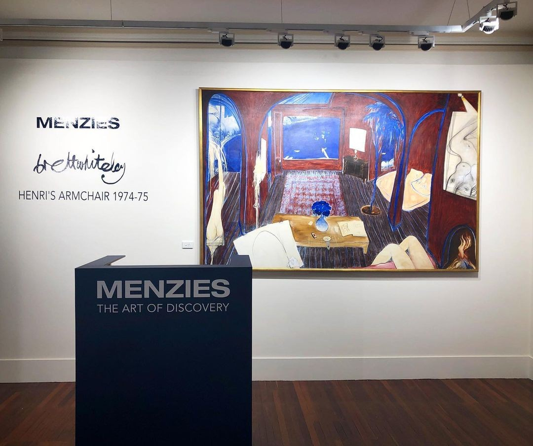 Quadro 'Henri's Armchair' de Brett Whiteley quebra recorde australiano em leilão
