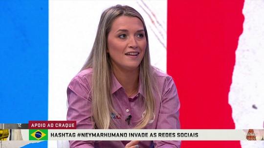 """Jornalistas comentam hashtag criada em apoio a Neymar: """"Não foi uma imagem positiva mundial"""""""