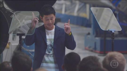 Primeiro turista a voar ao redor da Lua será empresário japonês, anuncia Elon Musk