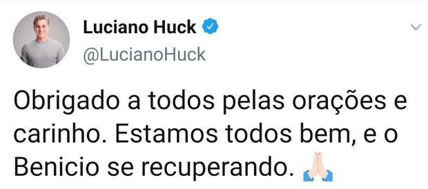 Post de Luciano Huck (Foto: Reprodução/Twitter)