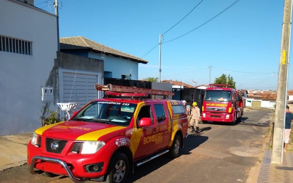 Bombeiros foram rapidamente ao local do chamado e evitaram que chamas se alastrassem  — Foto: Divulgação/Corpo de Bombeiros