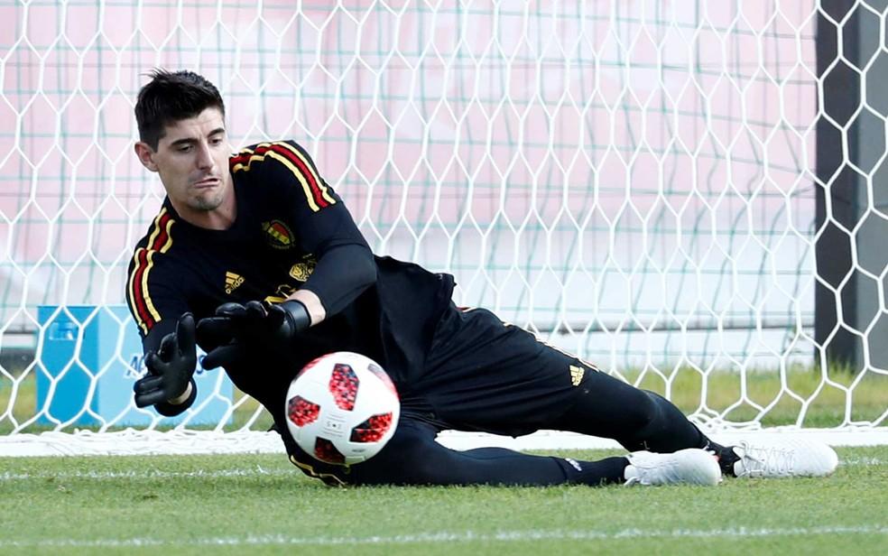 O goleiro belga Courtois (Foto: Damir Sagolj / Reuters)