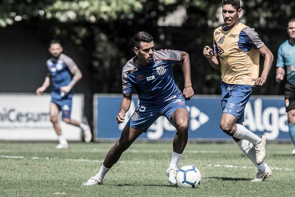 Tailson marcou um gol na atividade — Foto: Ivan Storti/Santos FC