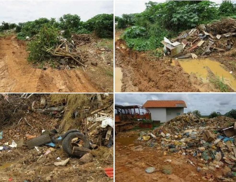 Equipes do MP-AC encontraram lixo doméstico, hospitalar, pneus, galhos e outros juntos no lixão — Foto: Arquivo/Ministério Público do Acre