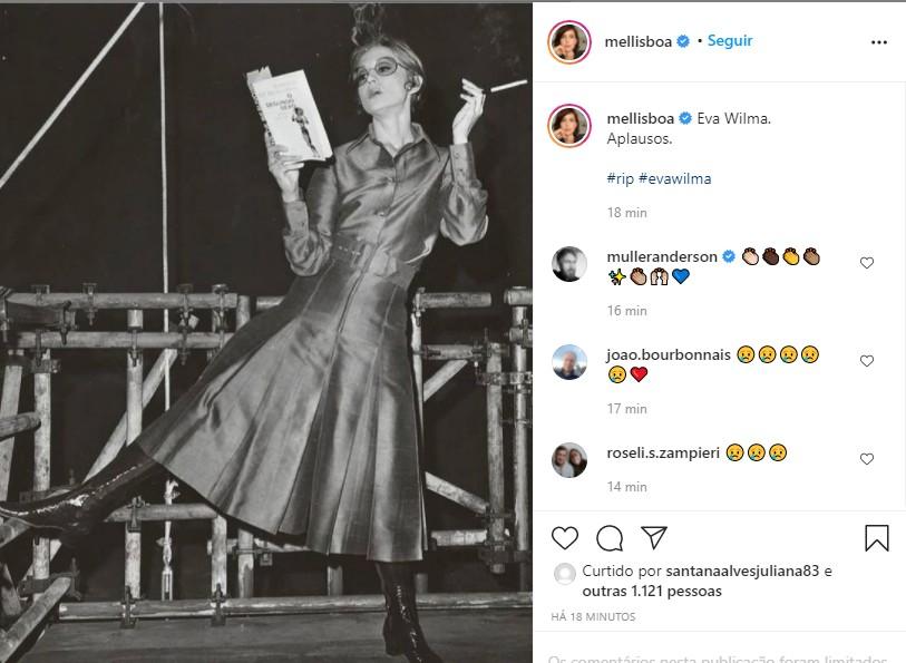 Mel Lisboa: adeus a Eva Wilma (Foto: Reprodução Instagram)