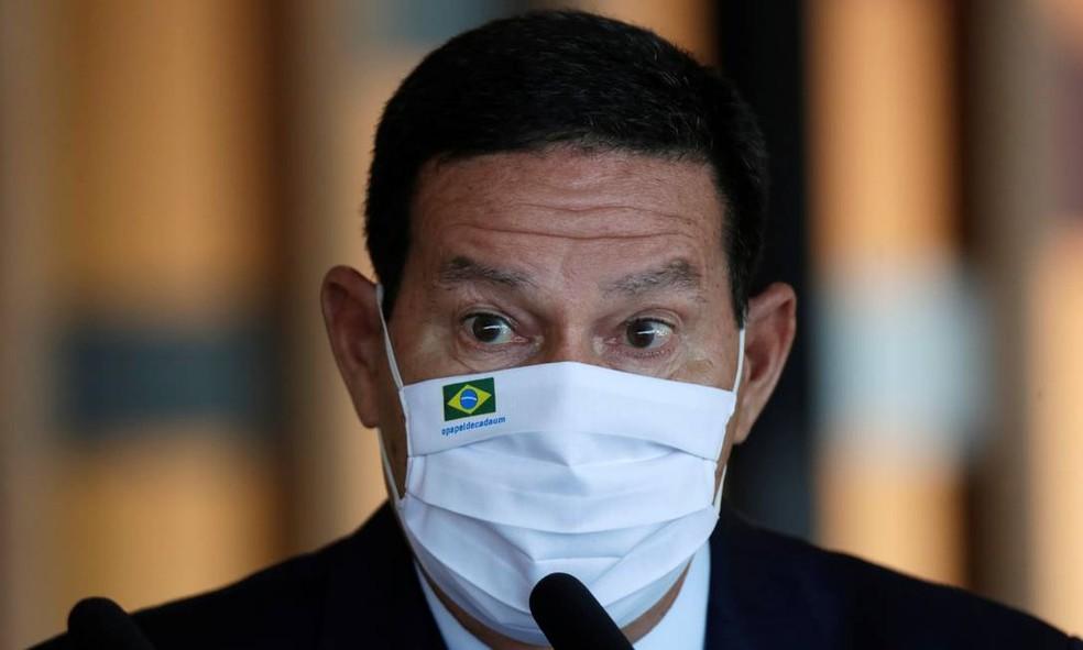 Vice-presidente da República Hamilton Mourão — Foto: Ueslei Marcelin/Reuters