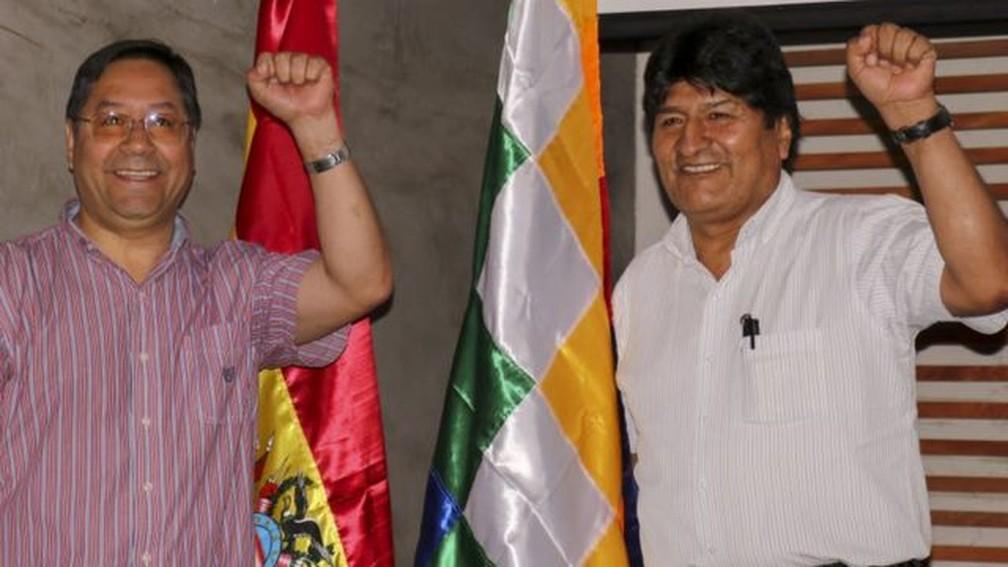 Arce é visto como pupilo de Evo Morales — Foto: Anadolu Agency/Via BBC