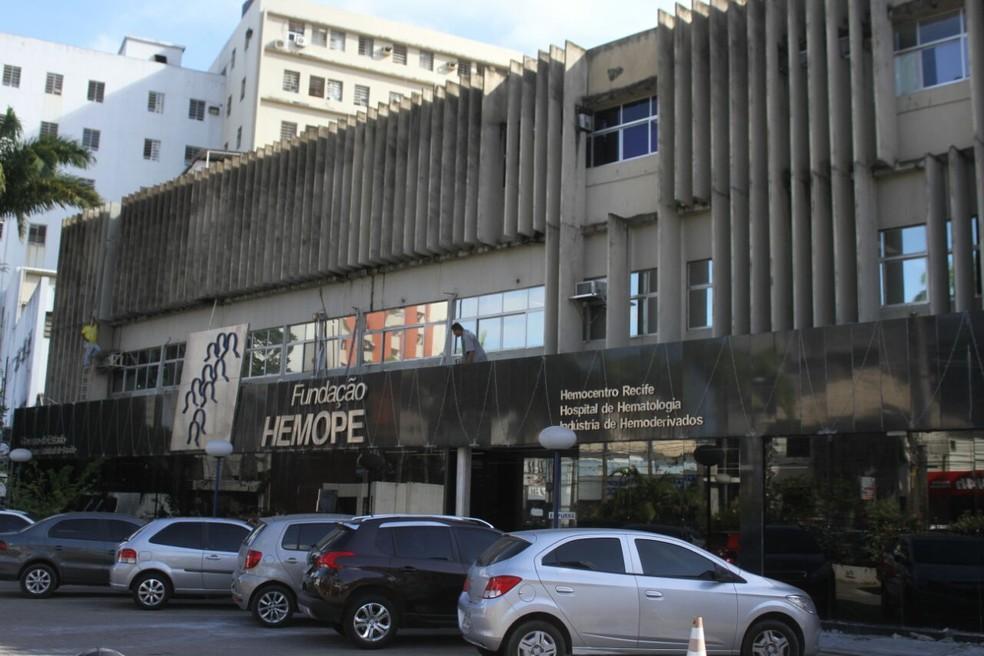 Hemope fica localizado no bairro das Graças, na Zona Norte do Recife — Foto: Marlon Costa/Pernambuco Press