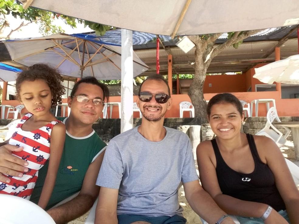 Dia dos Pais em Rio Preto (SP) será comemorado após adoção de meninas na família Mattos (Foto: Cleber Mattos/Arquivo Pessoal)