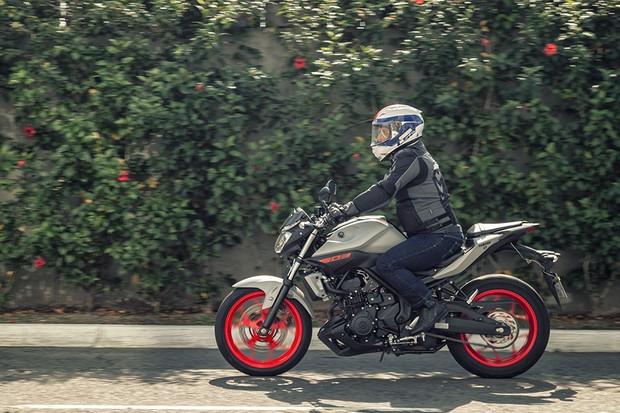 Yamaha MT-03 tem ótima ciclística e desempenho. O consumo fica na casa dos 20 km/l (Foto: Daniel das Neves / Autoesporte)