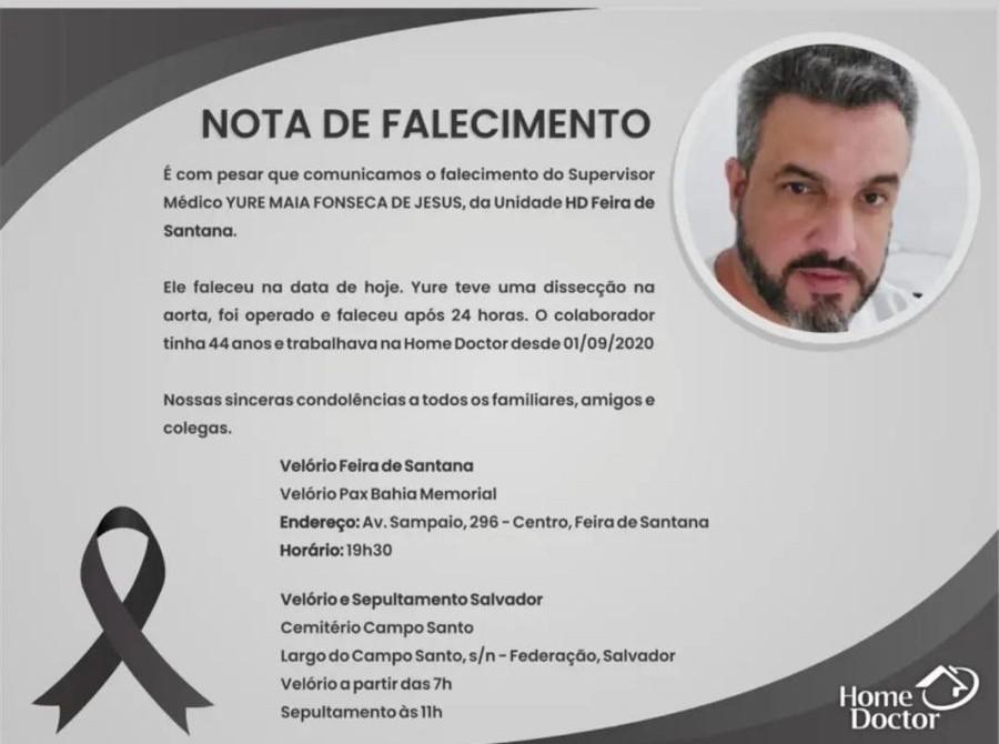 Morre pai de quadrigêmeos frutos de fertilização in vitro em Feira de Santana; médico tinha outros dois filhos
