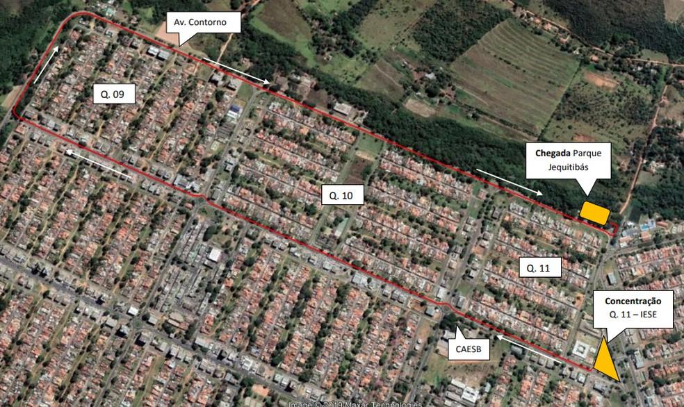 Mudanças no trânsito para o Passeio Ciclisto em Sobradinho — Foto: Detran-DF/ Divulgação