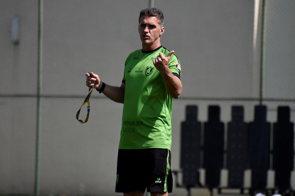 Vagner Mancini, técnico do América-MG — Foto: Marina Almeida / América